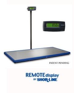 shor-line remote display scale