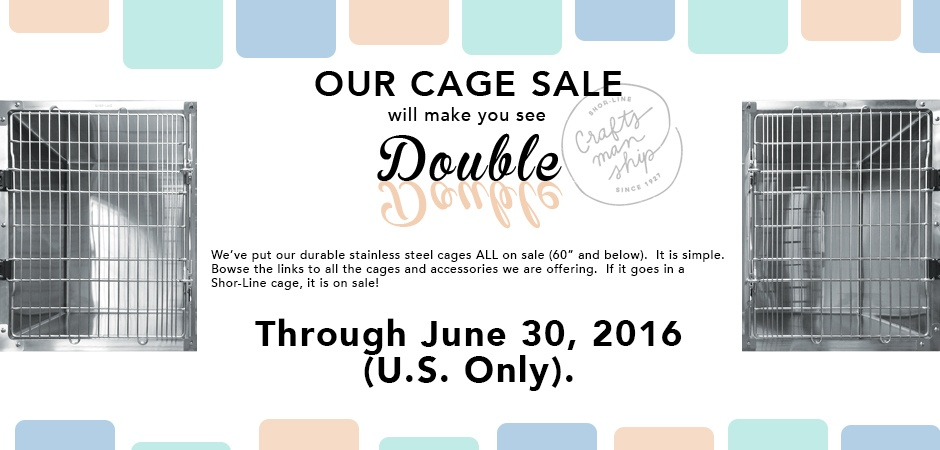 Shor-Line's Coveted Cages are ON SALE!